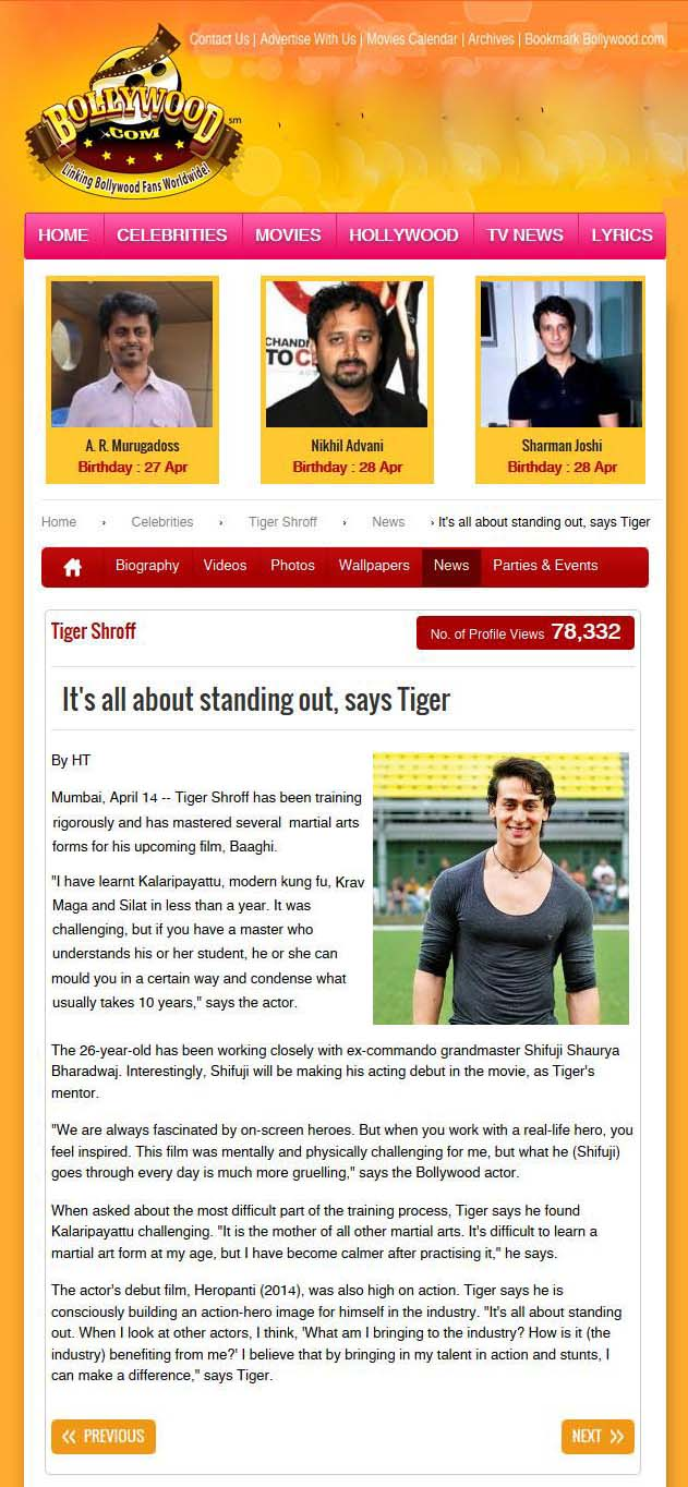 Its all about standing out, says Tiger