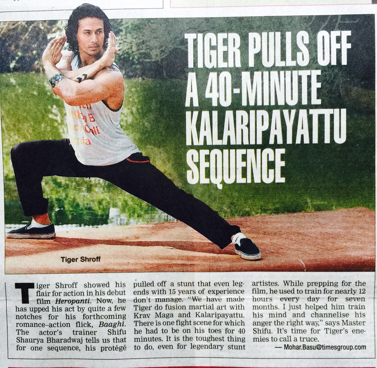 Tiger pulls off a 40 minute kalaripayattu sequence