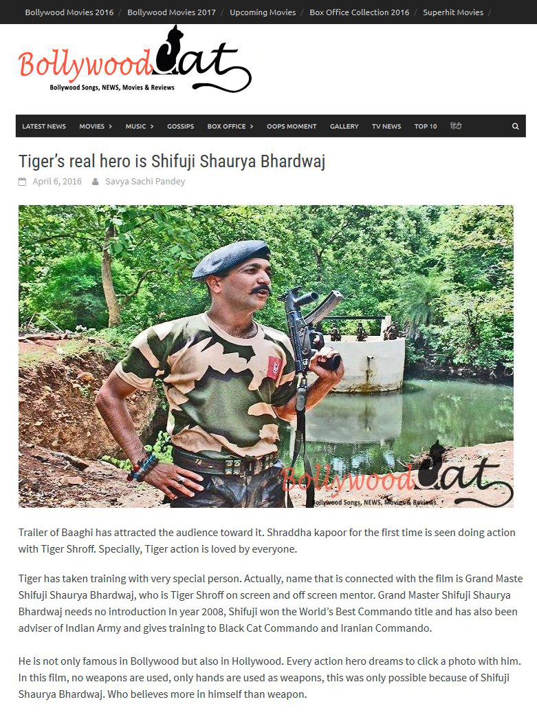Tiger's real hero is Shifuji Shaurya Bhardwaj