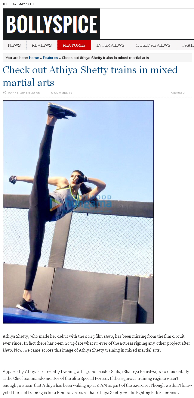 Check out Athiya Shetty trains in mixed martial arts