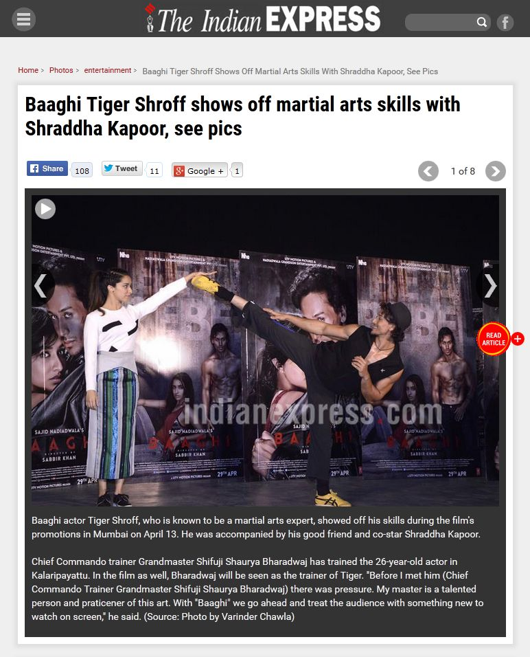 Baaghi Tiger Shroff shows off martial arts skills with Shraddha Kapoor, see pics