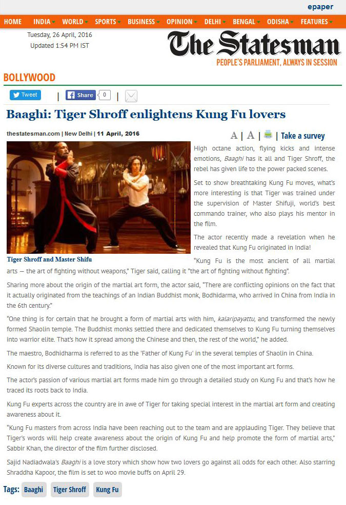 Baaghi: Tiger Shroff enlightens Kung Fu lovers