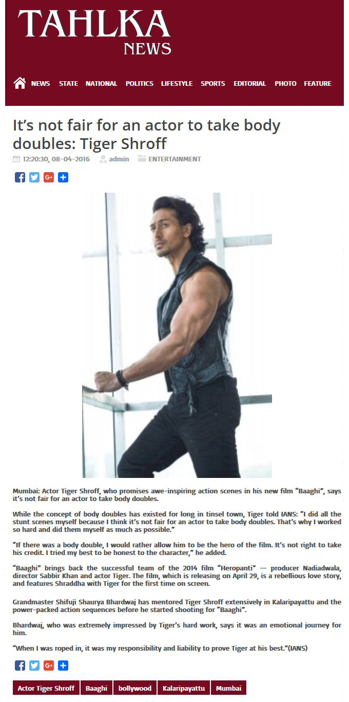 It's not fair for an actor to take body doubles: Tiger Shroff